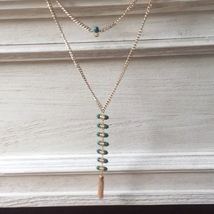 mark. by Avon Gold & Green Layer Necklace